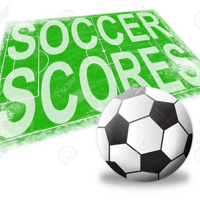 Soccer Scores Pitch Shows Football Results 3d Illustration